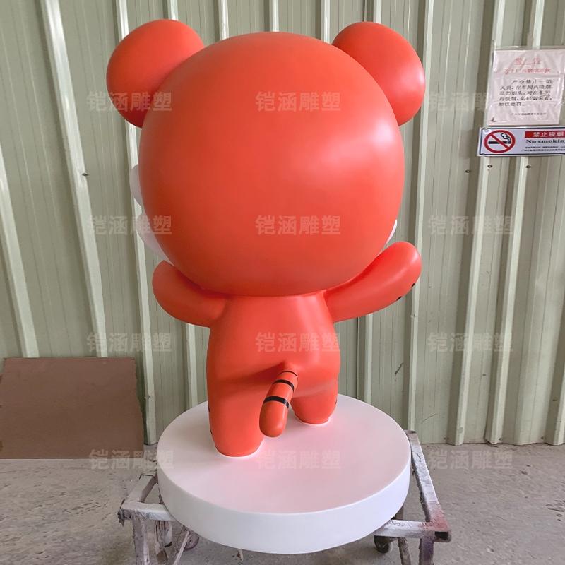 卡通动物老虎户外活动玻璃钢雕塑摆件定制