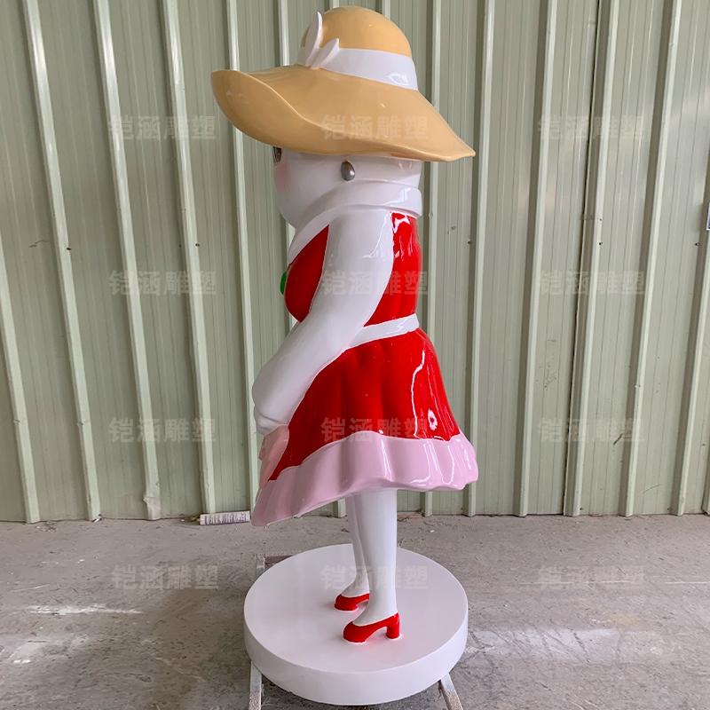 大米妈妈卡通ip人物玻璃钢雕塑摆件定制