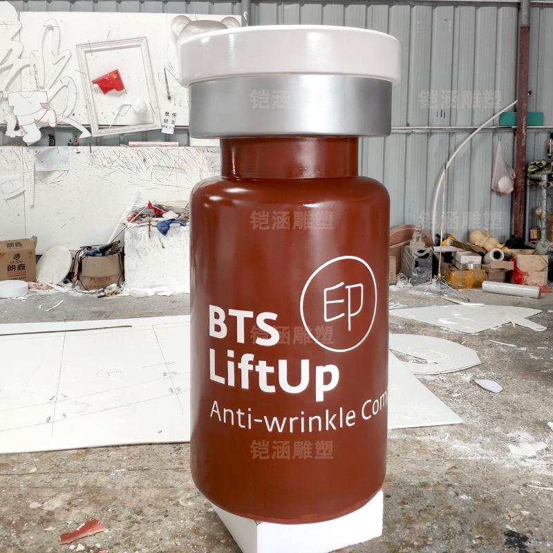 泡沫瓶子刮灰上色泡沫雕塑定制
