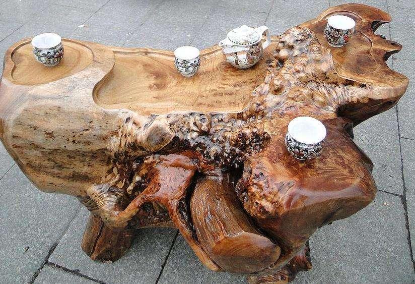 根雕茶台4