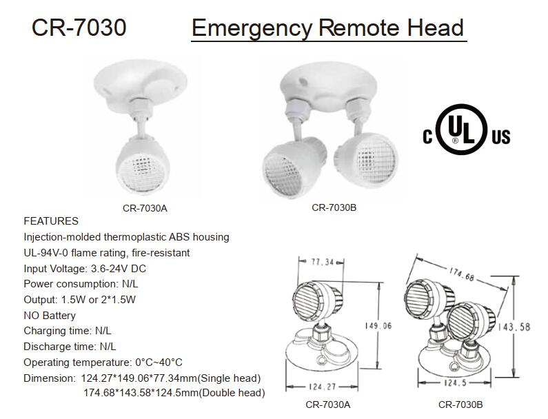 IP65 Emergency Head Light
