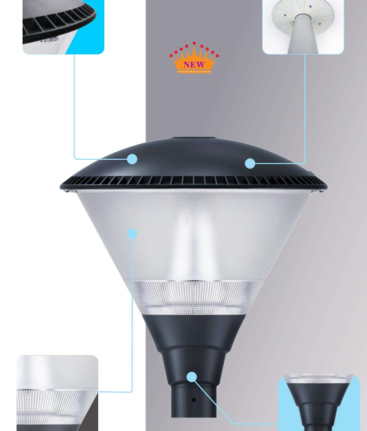 IP65·IK09 Post Top/Garden Light