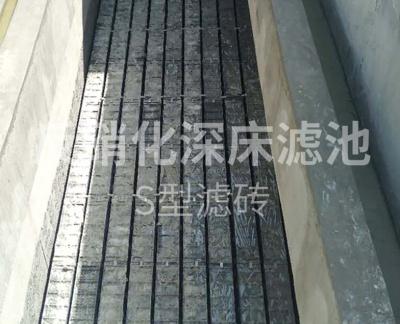 反硝化深床滤池S型滤砖 (贵州正安县石梁河污水处理厂)