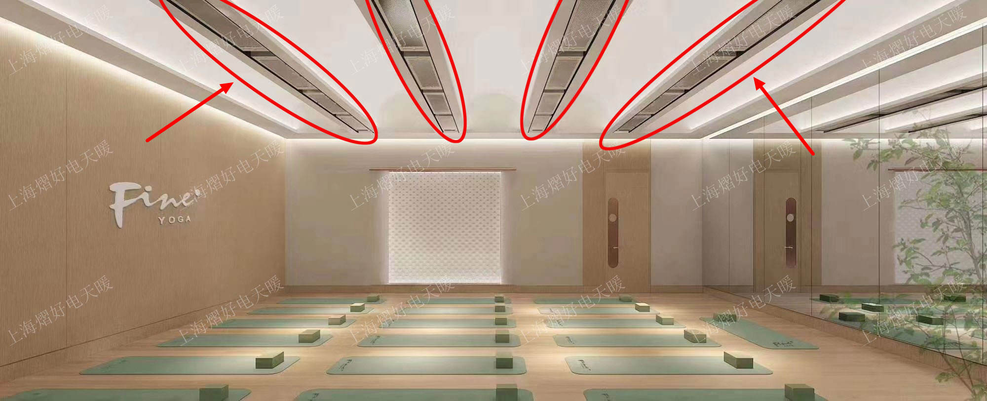 高温瑜伽电取暖 远红外加热器 瑜伽馆
