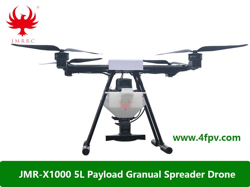 JMR-X1000 5L Granular Spreader/ Seeds Spraying Drone