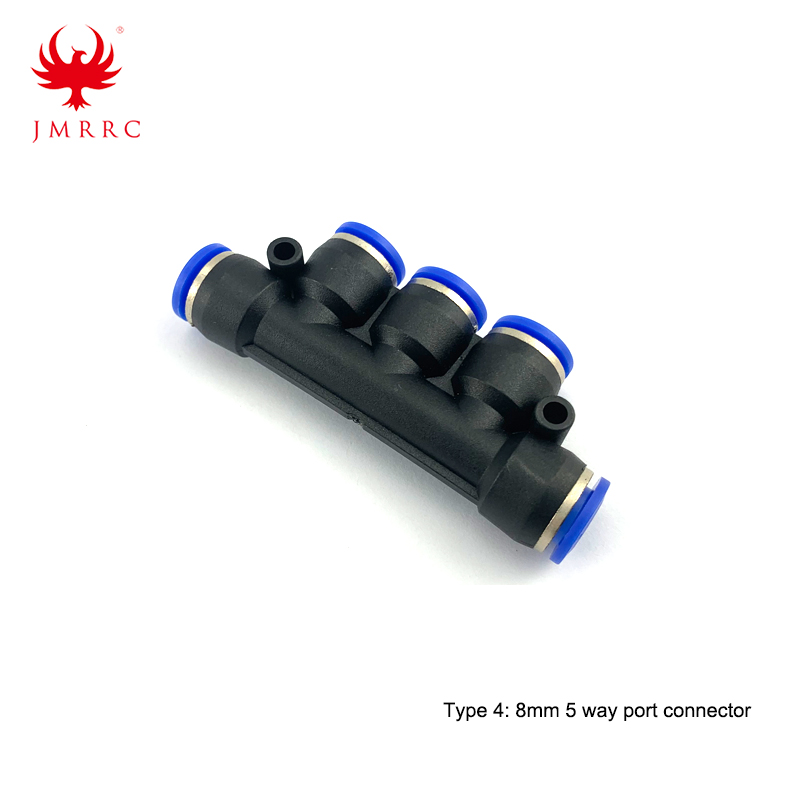 6mm 8mm 3 Way Port 5 Way Port Water Pipe Connector