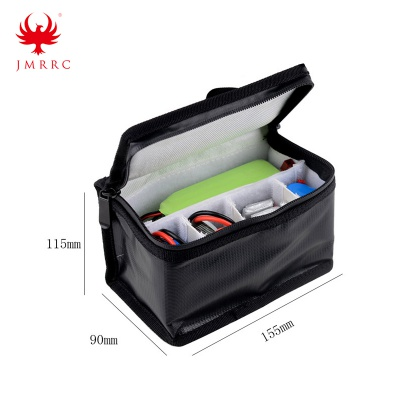 Lipo Battery Portable Fireproof Safety Bag Lipo Explosion Proof Fire Resistant Charging Sack Battery