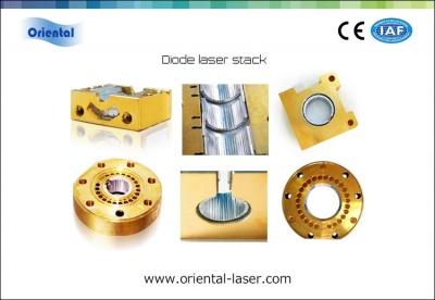 Circular packaging diode laser stack