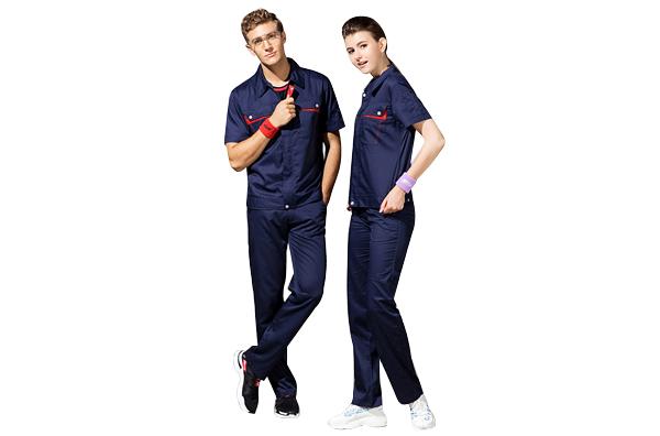 工人夏季短袖套装工程服