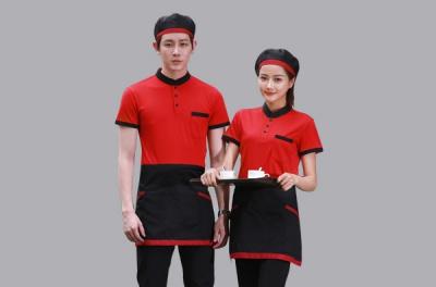 服务员短袖套装工作服