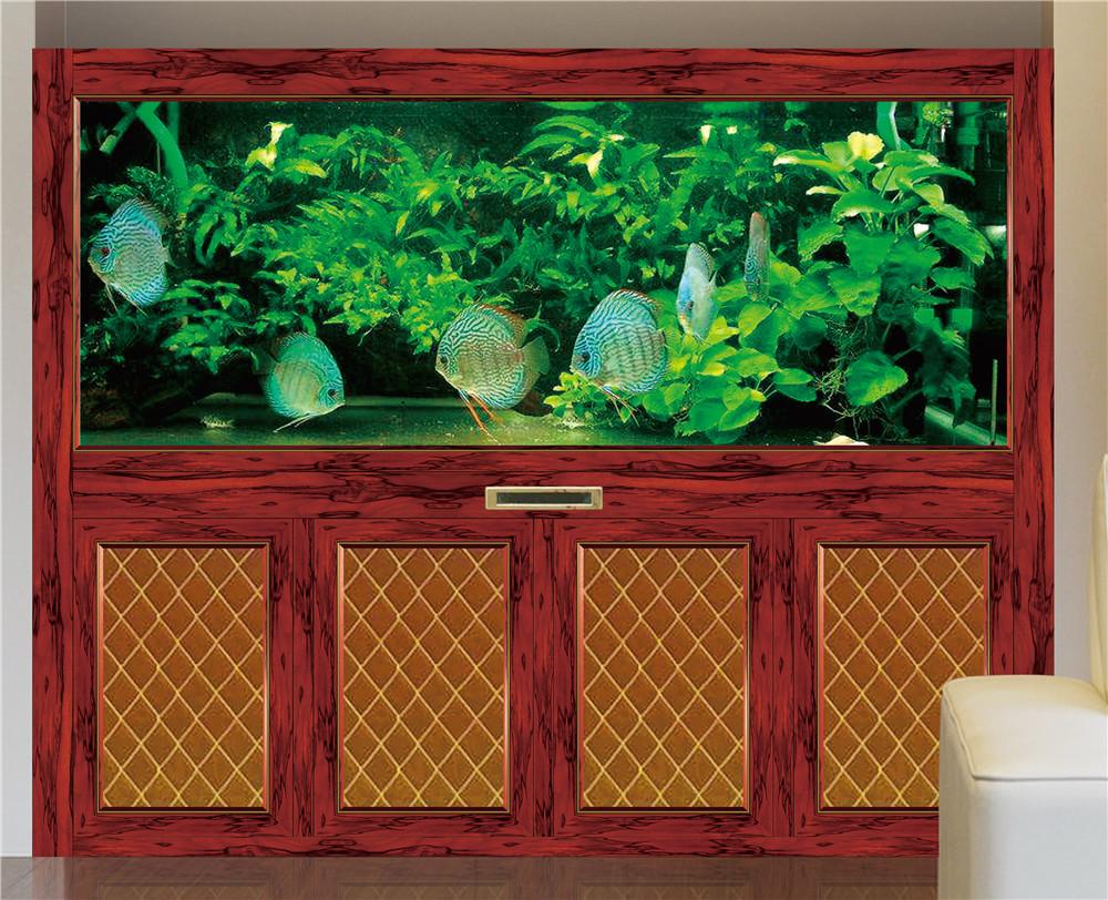 新款木纹龙鱼缸