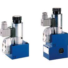 rexroth 电磁操作的二位三通和二位四通方向座阀M-.SEW 10