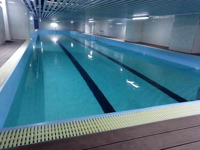 清远英德键尔美钢结构恒温泳池