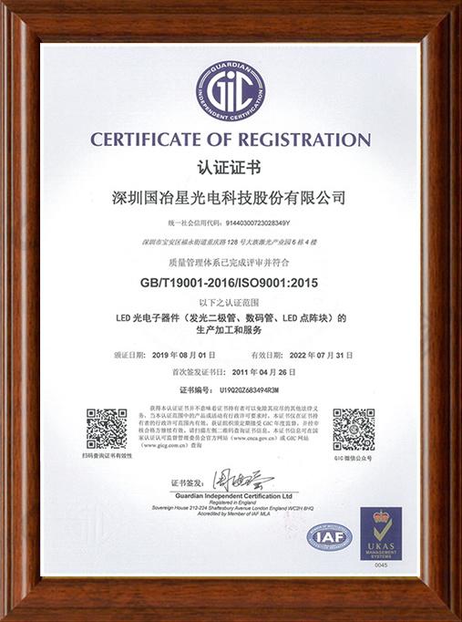 ISO-9001体系认证