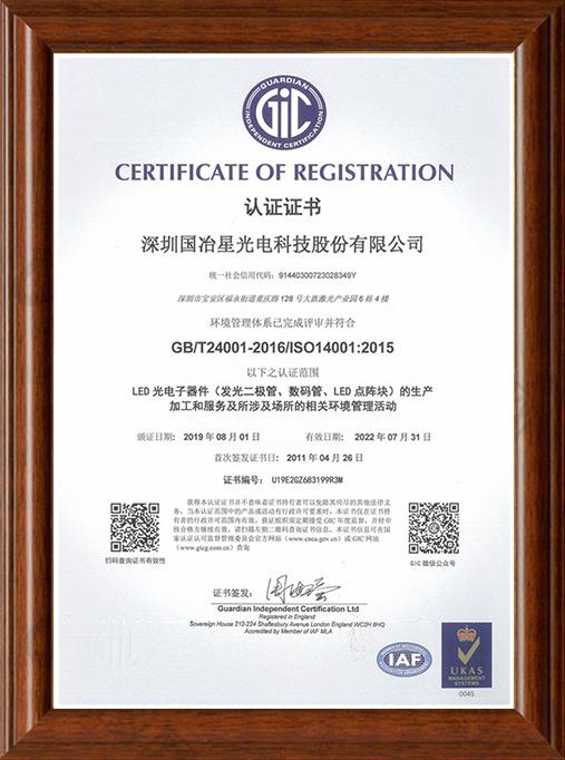 ISO-14001体系认证