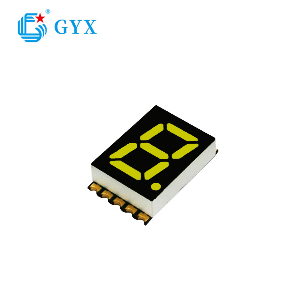 High Quality 1 Digit 7 Segment 0.5inch white LED Display GYXS-8W