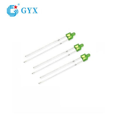 2mm tower Common green Long feet  LED lamp beads for display