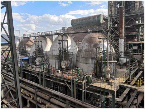 东豫科技承包的云南敬业450m³高炉之热风炉