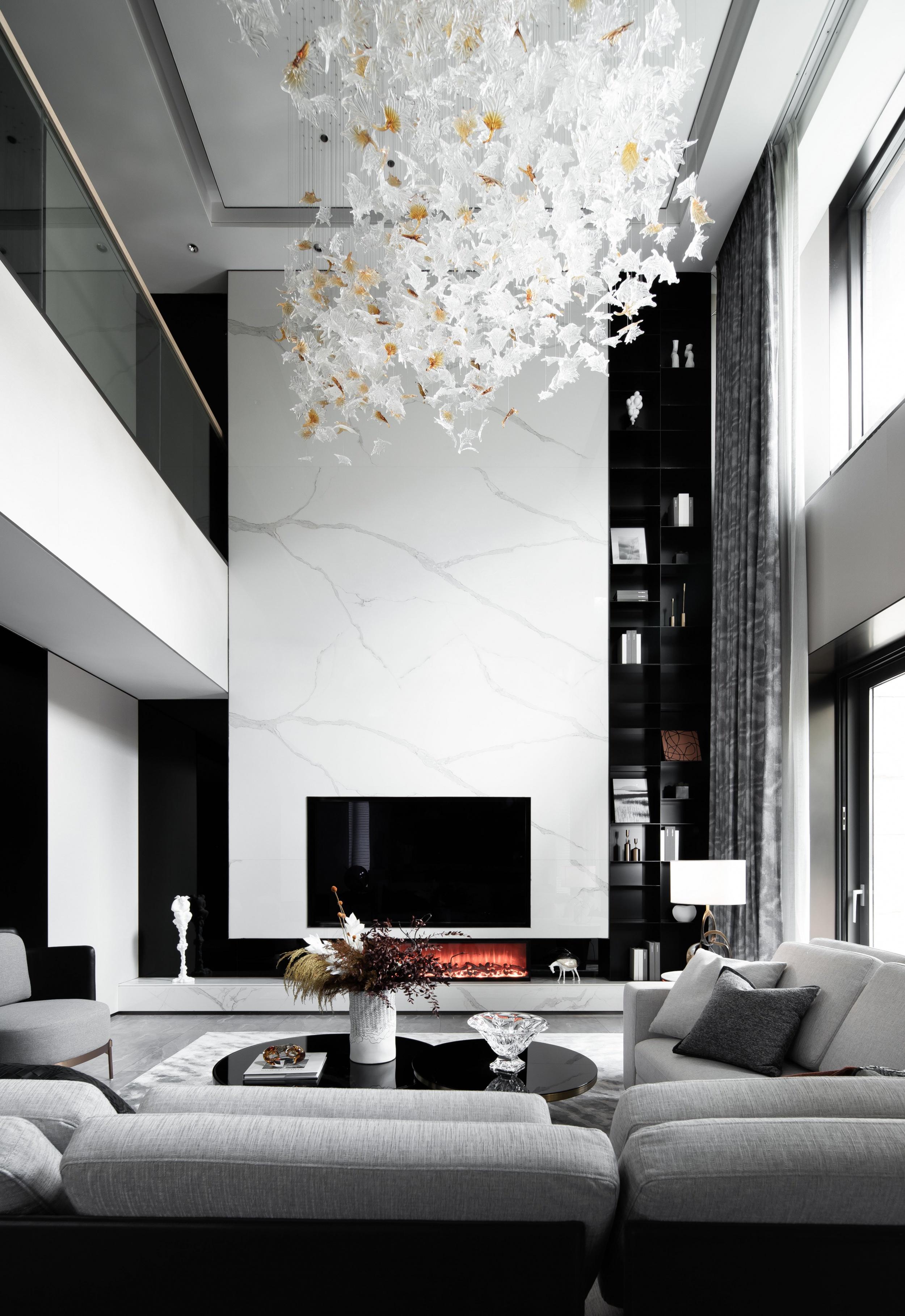 臻品空间设计   万科白沙润园:1700㎡别墅 向美而生,逐光而行!
