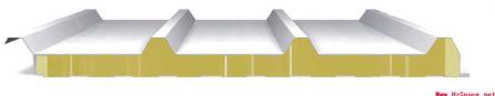 防火巖棉夾芯板瓦楞屋面系統