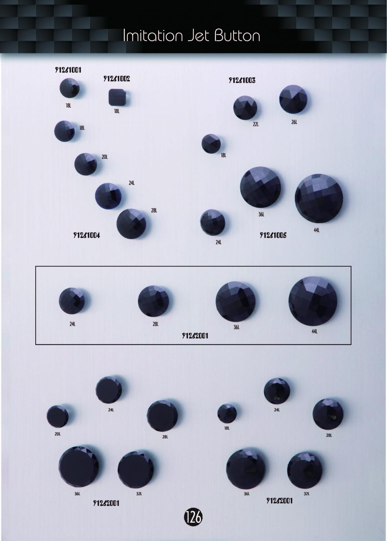 (126)Imitation Jet Buttons