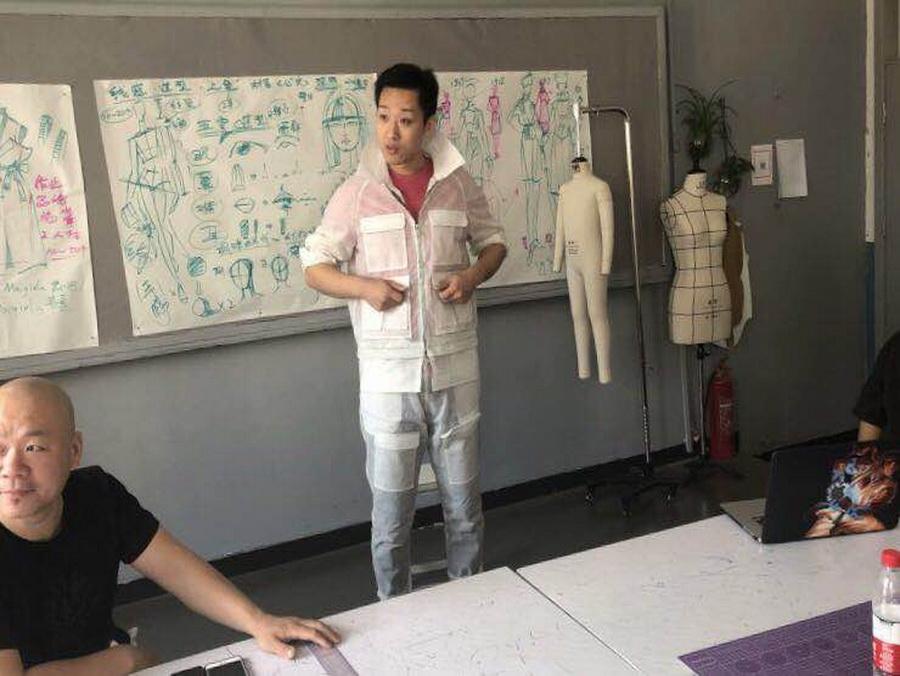 原創服裝培訓工裝風男裝訓練