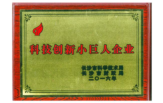"""公司荣获""""科技创新小巨人企业""""荣誉称号"""