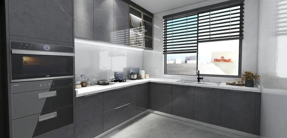 现代实用橱柜设计,跟厨房杂、乱、差说拜拜!