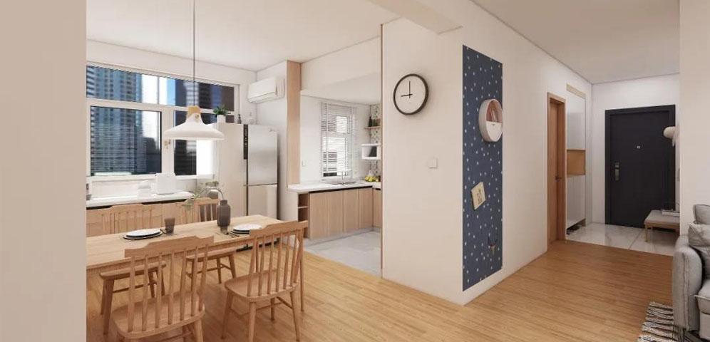日式风三居室设计,简洁大方,功能...