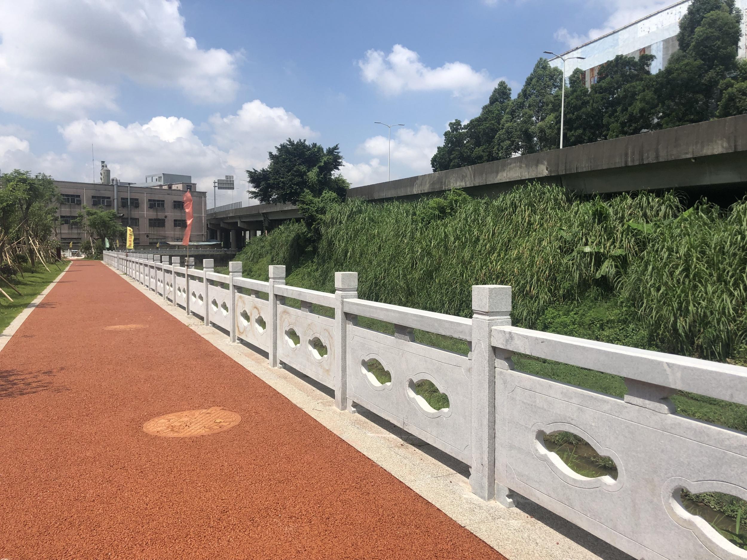 深圳光明区消黑项目栏杆案例