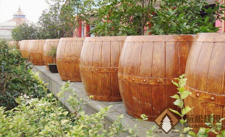 啤酒桶花箱