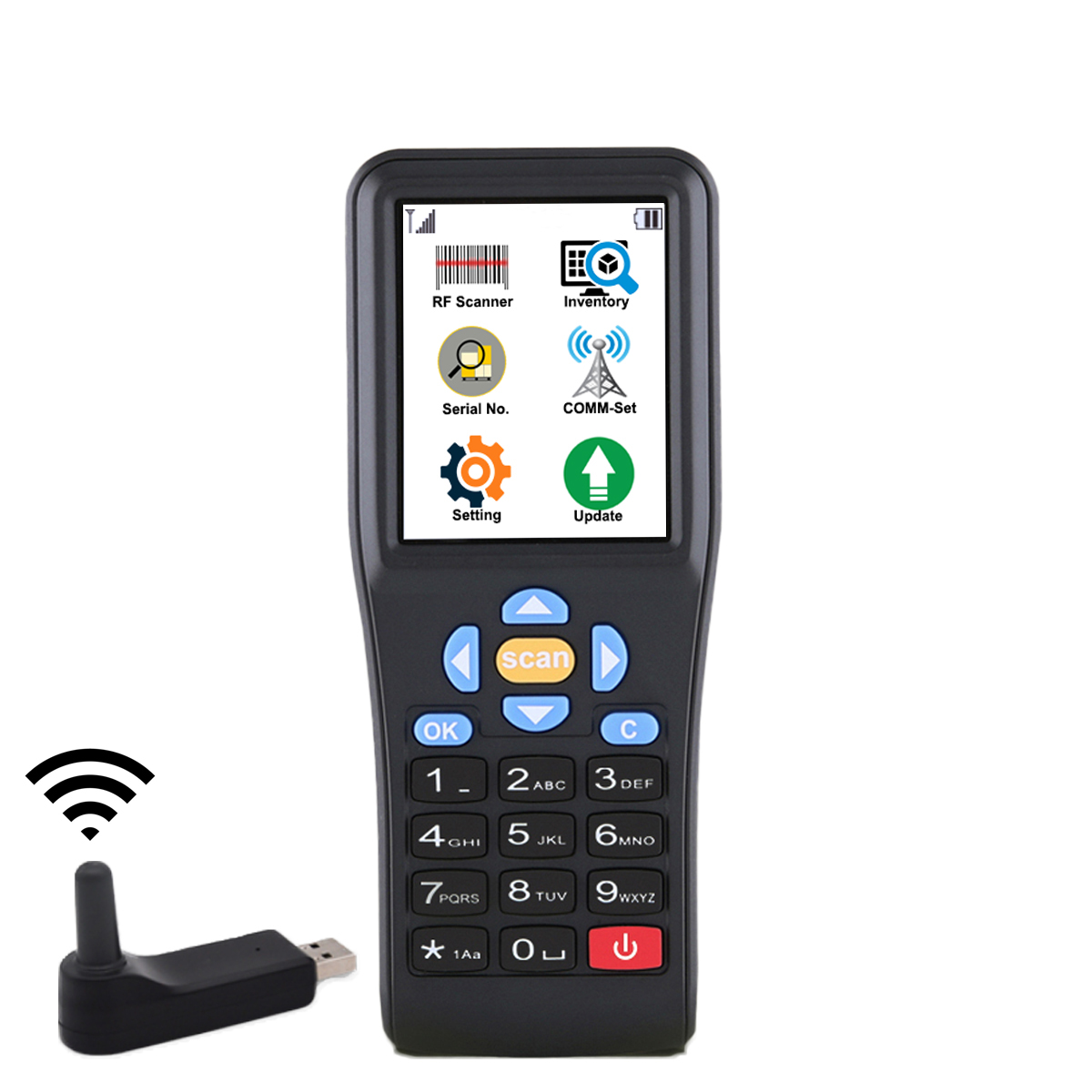 HC-M3 Handheld Data Terminal,Barcodes Data Collector for Inventory Work Process