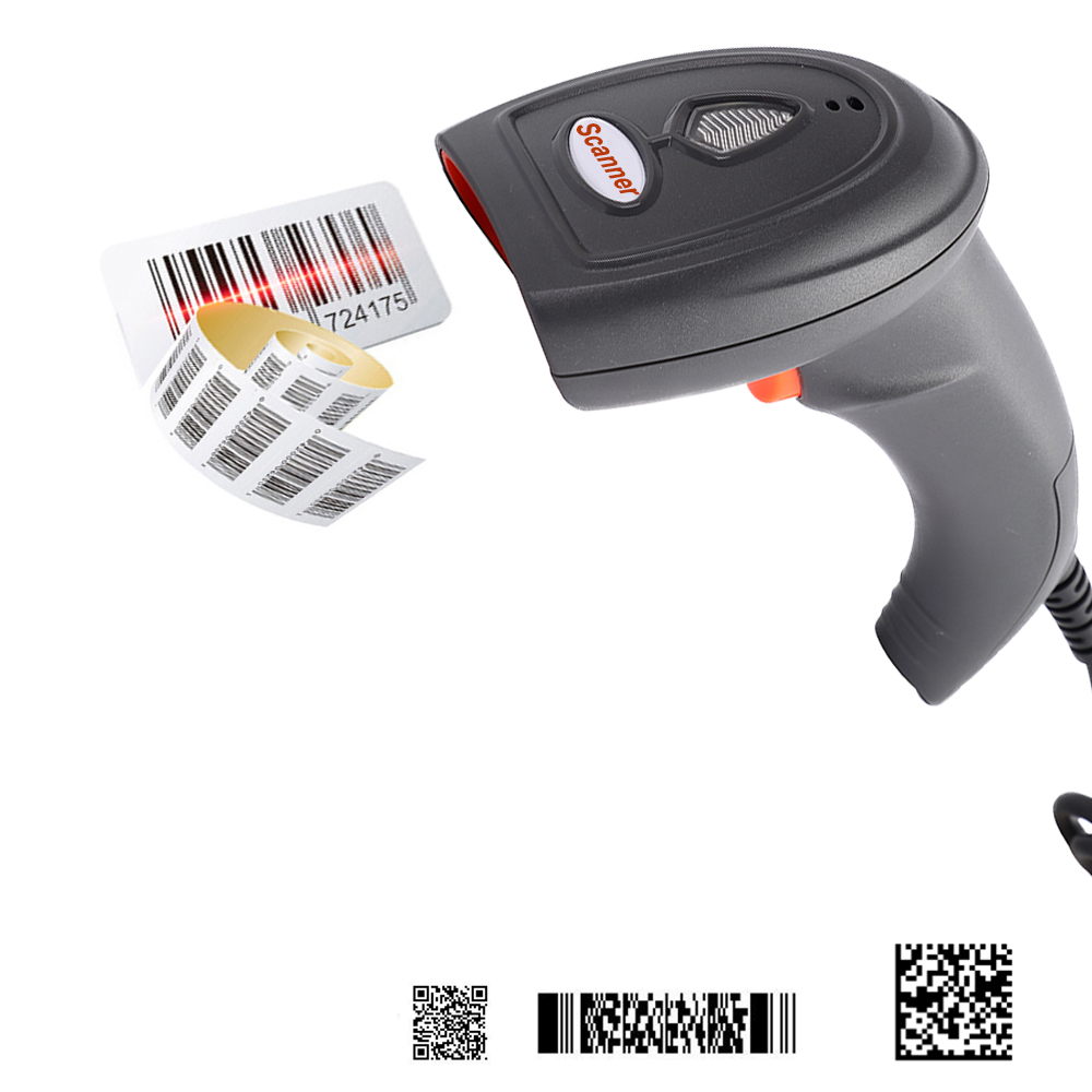 Hencodes HC-6906 Handheld 2D Barcode Scanner,USB QR Code Scanner for Retails Shops POS System
