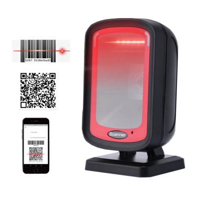 HC-606 Omnidirectional Barcode Scanner,Desktop QR Code Reader,USB Cable for Retail Stores POS