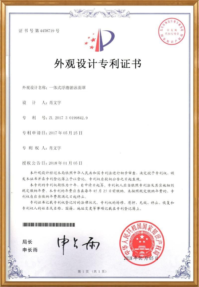 Apperance patent for R20 in China