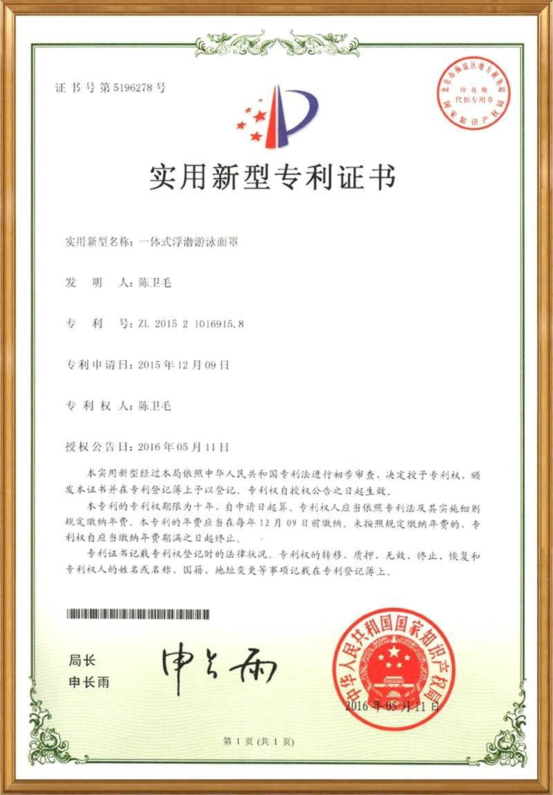 Utility models patent in China