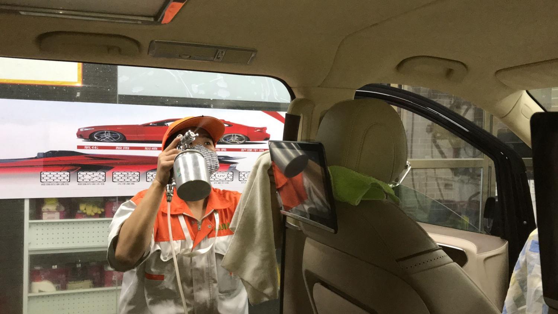 迈巴赫新车除甲醛、除异味、杀菌消毒05