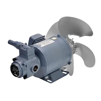 机床油冷机专用一轴式齿轮润滑油泵电机组带风扇
