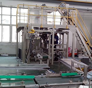 Customer case automatic packaging machine site