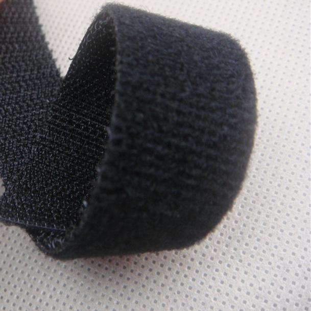 20mm普通勾背靠背起毛布分条PGTHQM-20BLK