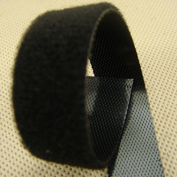 20mm黑色3#勾背靠背起毛布S3THQM-20BLK