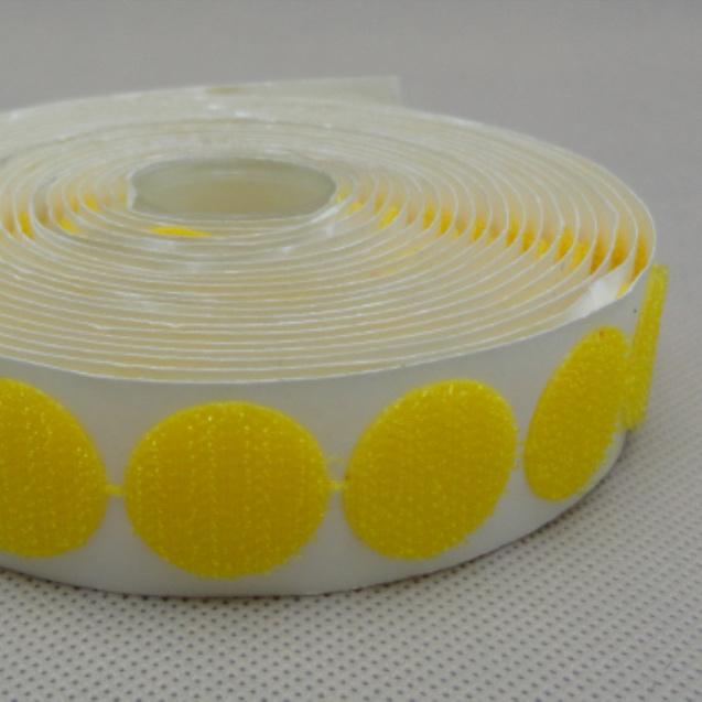 20mm黄色圆形背胶魔术贴BJCXY-20YH-1
