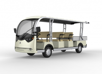 8 seaters sightseeing bus with cargo box