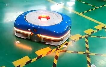二维码万博体育maxbextx手机注册视觉AGV小车自动顶升搬运快递分拣仓库机器人堆高车