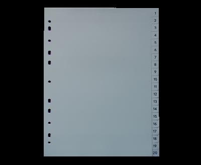 20页分类卡