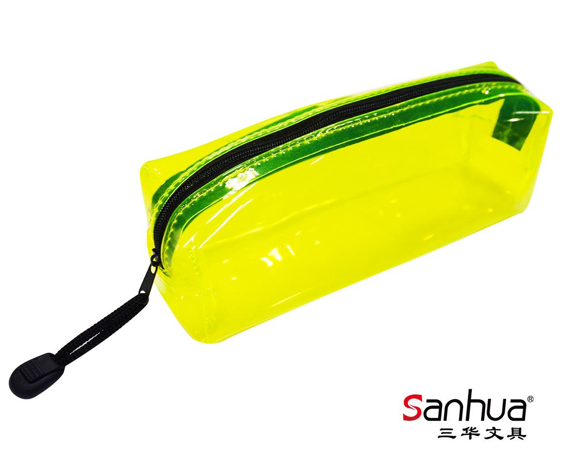 PVC半透明方形笔袋