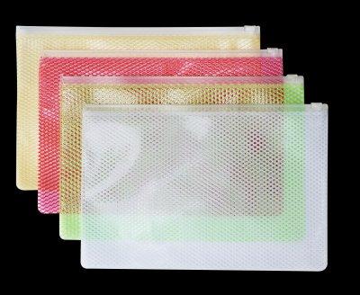 EVA六角纹透明拉链袋