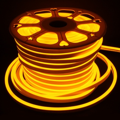 15x25mm 360Degrees LED NEON Light,  AC 110-120V ,120 LEDs/M, (65ft/20m,165ft/45M Yellow)