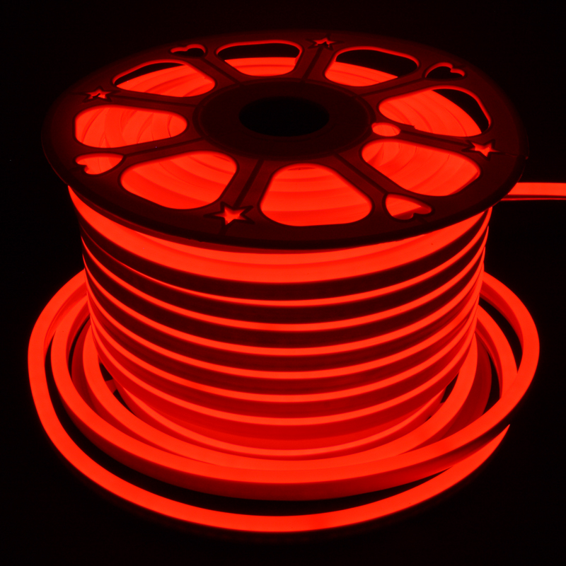 RED 15x25mm LED Neon Lights,  120V Lights, 2835 120LEDs/M, for Indoor Outdoor, Accessories Included