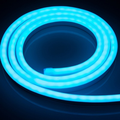 LED Neon Lights 8x16mm , 65ft Blue, 120V Neon Rope Lights, 2835 120LEDs/M, for Indoor Outdoor